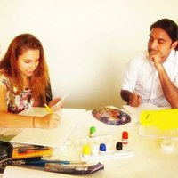 Art Classes by Qasir Z Khan at DIAC