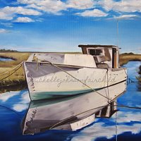 """Resting Reflection"" 1st place winner in Carolina Artist's Gallery 'It's a Shore Thing' show"