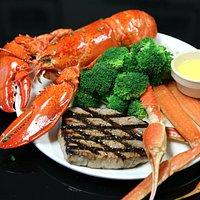 Unlimited Lobsters, crab legs,steaks