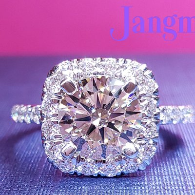 Love Cushion Halo for the perfect Round Brilliant center stone