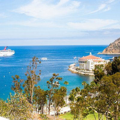Carnival Cruise Ship in port at Catalina Island