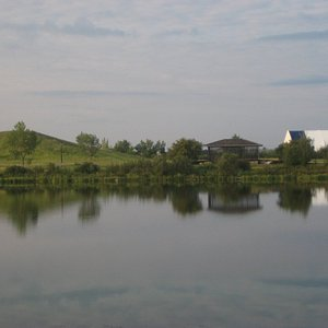 View of the pond (Shuckburgh Slough) behind the Ramada