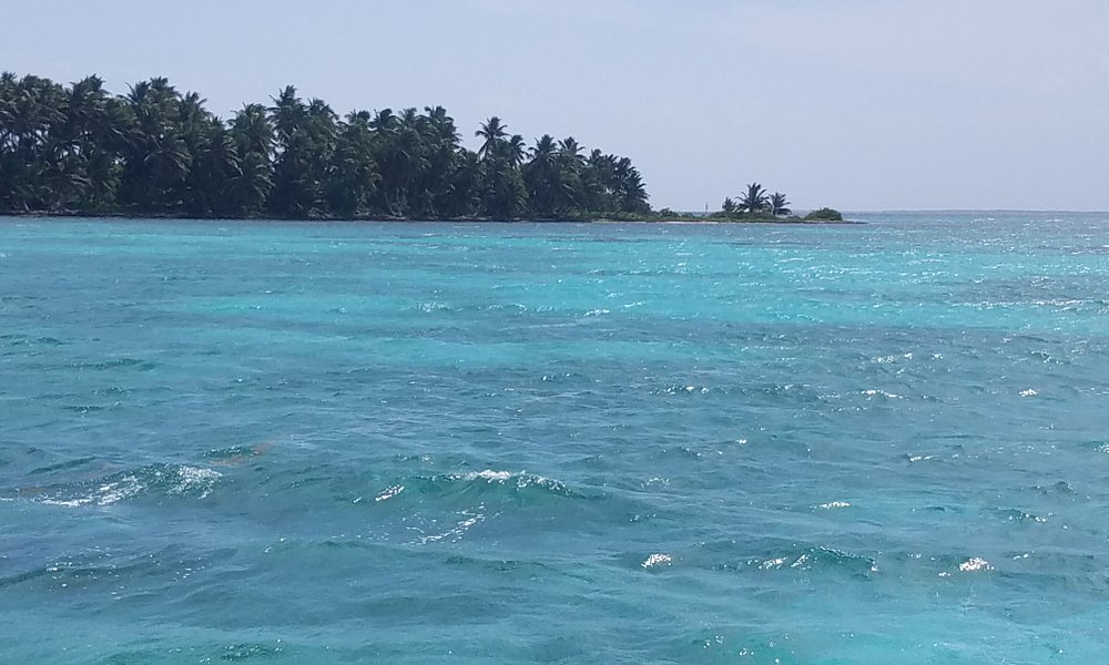 View of Half Moon Caye from boat