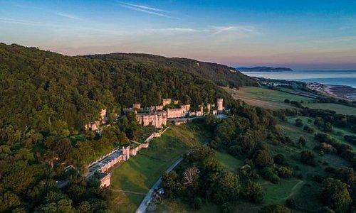 Gwrych Castle at sunrise