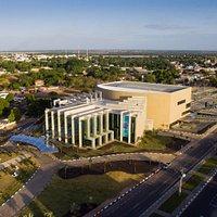 Vista aérea do Teatro Municipal