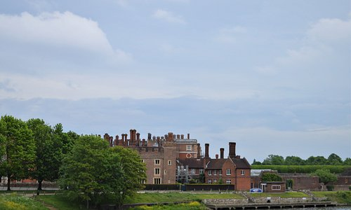 Hampton Court across the river Thames in Hampton,m England