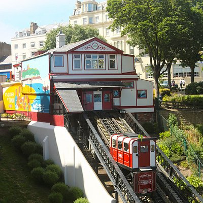 View of the top station from the Grand Hotel