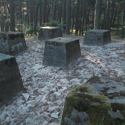 """Bateria przeciwlotnicza """"Jastarnia"""" - fundamenty wieży"""