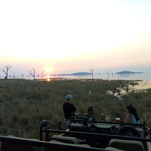 Sunset on the banks of the Kafue river