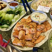 Baked Salmon & Other Food Case Items