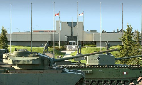 The Military Museums Entrance and Tank Park. Photo by Chuck Szmurlo