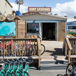 PB Surf Shop located on the boardwalk in Pacific Beach