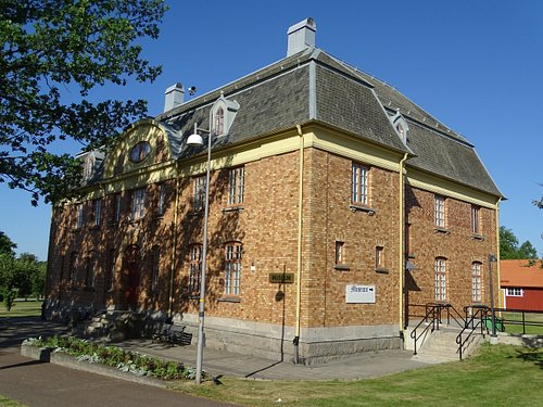 Exterior shot of the museum, Mellerud, Sweden.