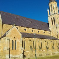 Beautiful church at sunrise.