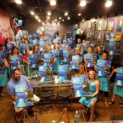 Always painting, drinking and having fun!