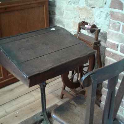 Old school desk in the Heritage Centre