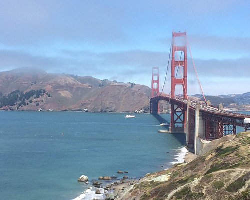 The clouds move away from the Golden Gate