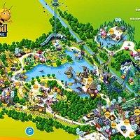 la carte du parc reçu à l'entrée du parc
