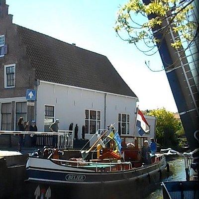 passage d'un bateau