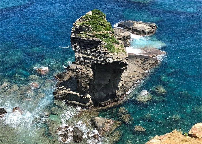 立神岩を真上から
