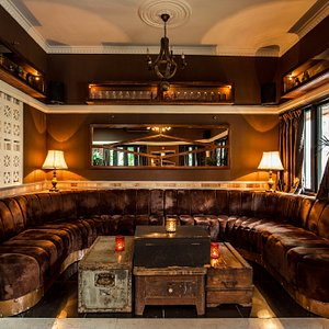 Our cozy velvet sofa corner