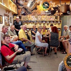 Customers come to enjoy good Vietnamese Coffeee