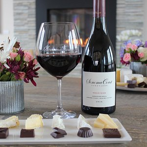 Experience a unique seated tasting with our seated Wine, Chocolate, and Cheese Pairing