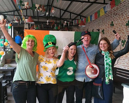 celebrating the very fist paddy's day with a special guest from Ireland Hector!!