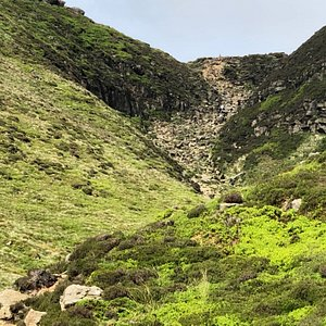 Climbing up to Kinder Scout