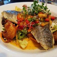 Great seabass dish...