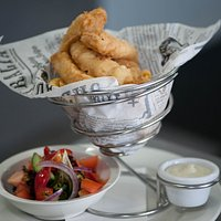 our House made fish and Chips