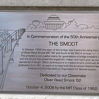 A plaque commemorates what might be the most innocent form of hazing ever.