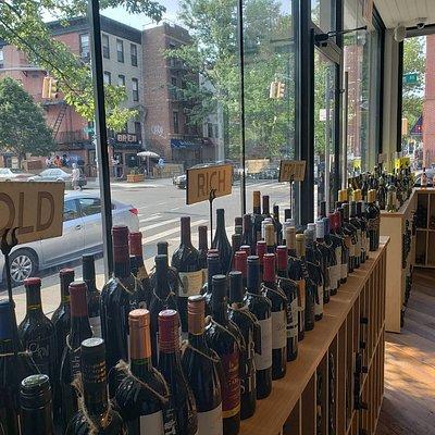 Wine arranged by taste
