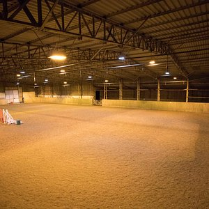 Indoor and 2 outdoors arenas for riding tuition