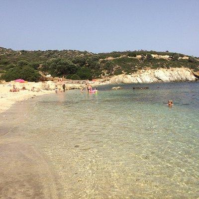 Uno scorcio della spiaggia