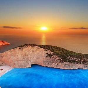 Sunset view from the platform overlooking the famous shipwreck beach!