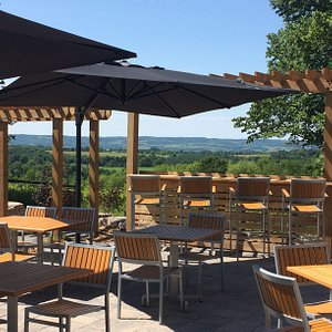 Take in sweeping views of the Beaver Valley from the patio