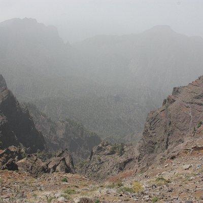 Vista de la Caldera de TAburiente desde el Mirador