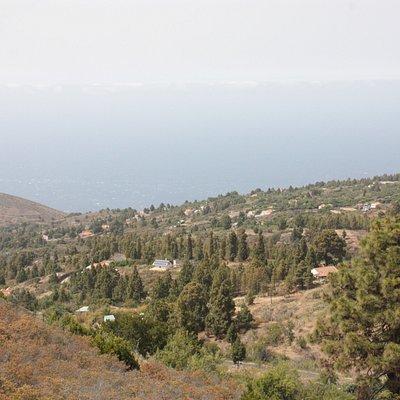 Vista desde el Mirador hacia la costa.
