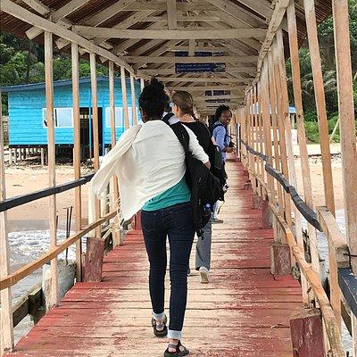 boardwalk from Sea Bird Express to Freetown airport office.