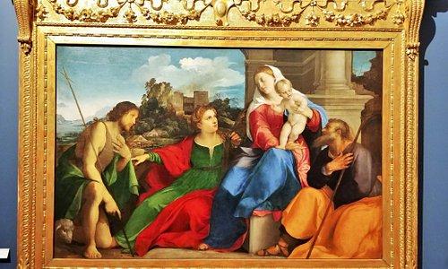 Palma il Vecchio,ste Famille avec ste-Catherine et st-Jean Baptiste_Galleria dell'Accademia