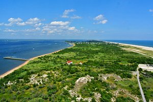 View of Robert Moses State Park and Fire Island from the lighthouse.