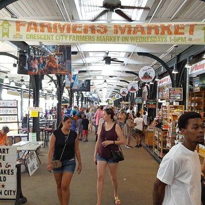 Walking Thru The Market Place