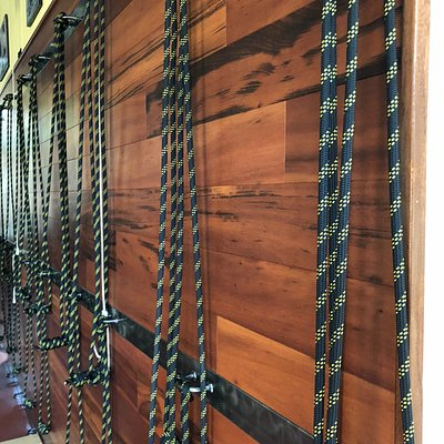 Rope wall. How many studios do you know that have a rope wall?