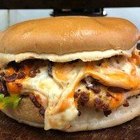 Xis 4 queijos com bacon
