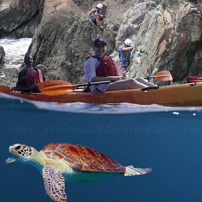 St. Thomas Adventure Tours Kayak, Snorkel & Rock Climbing