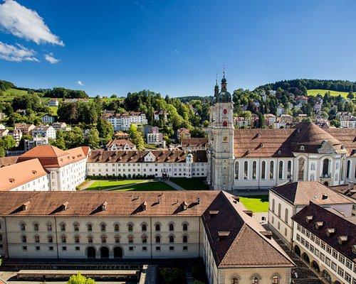 Sicht auf den Stiftsbezirk St.Gallen