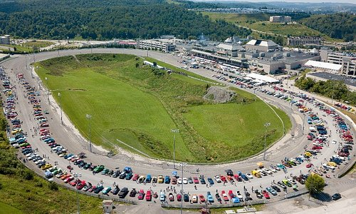 The racetrack during our Annual Classic Car Cruise-In.