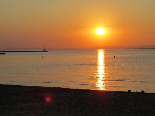 coucher de soleil plage rive gauche