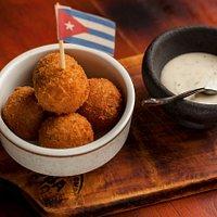 Croquetas de jamón, al mejor estilo cubano